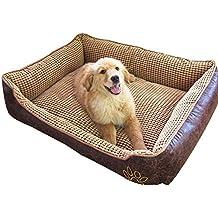 Cama para perros suave y supercálida, tamaño grande, para cachorros,