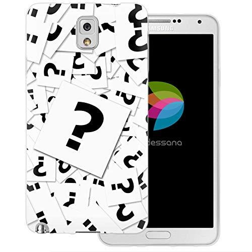 dessana Puzzle Transparente Schutzhülle Handy Case Cover Tasche für Samsung Galaxy Note 3 Riddler Karten