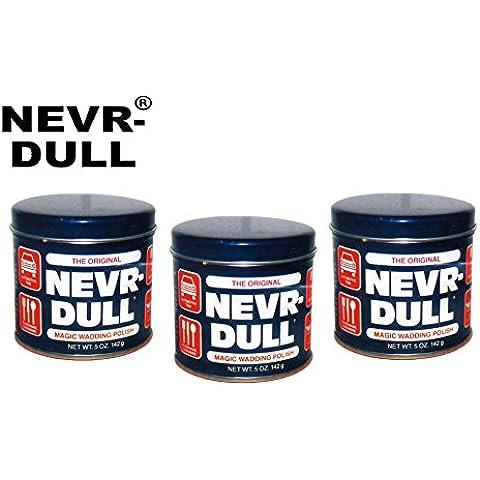 Set pratico. 3x 142g originale Nevr Dull metallo lucido lucidatura lucidatura ovatta