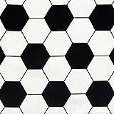 Fabulous Fabrics Cretonne Fußball - Meterware ab 0,5m -