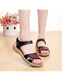 RUGAI-UE Sandali estivi per sandali da donna, Golden, Quarantaquattro