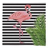 Groß Warm Decke Fleece Überwurf Flamingo Design Streifen Bett Stuhl Auto Sofa - Schwarz & Weiß, L