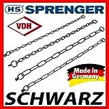 HS SPRENGER Halskette SCHWARZ EDELSTAHL ROSTFREI Länge: 59cm, Drahtstärke 4,0mm, Gliederlänge 50mm, Artikelnr: 51604 059 57