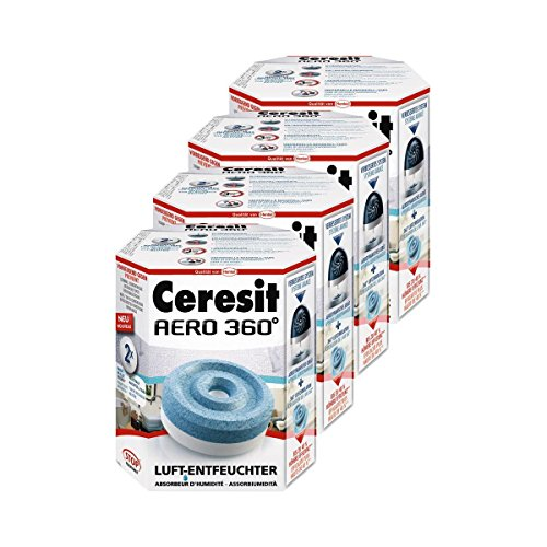 Henkel Ceresit Luft-Entfeuchter-Tabs AERO 360 Nachfüller 2x450g Tab (4er Pack)