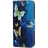 Samsung Galaxy J4 Plus Case, 3D Painted Shockproof Premium PU Leather Flip Notebook Wallet Case with Magnetic Kickstand ID Card Holder TPU Bumper Protective Cover for Samsung Galaxy J4 Plus, blue