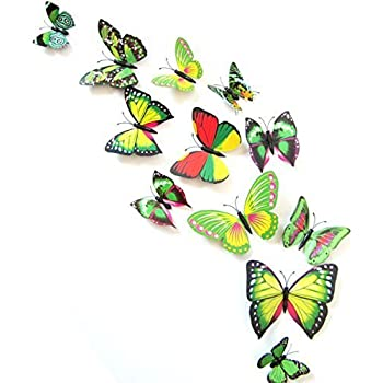 12PCS 3D Green Butterfly Stickers Card Making Stickers Wall Stickers 3D  Crafts Butterflies Part 23