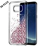 Custodia Galaxy S8 Plus, Wuloo Samsung Galaxy S8 Plus Glitter Custodia Luxury Moda 3D Creativo Bling fluente Liquido Floating Quicksand Sparkle luccichio Cover Protettivo TPU Bumper Case for S8 Plus