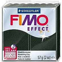 Staedtler Fimo Efecto polímero de arcilla 2oz negro perla, acrílico, multicolor, juego de 6