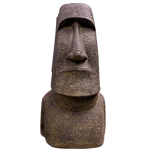 Oriental Galerie große Steinfigur Osterinsel Moai Skulptur Lavasand Bali Tiki Garten Hawaii 96cm