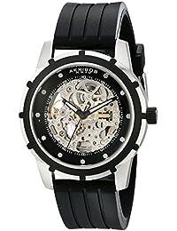 Akribos XXIV Herren 's PREMIER Delos Automatik Skelett Black Watch