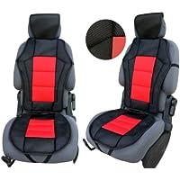 CSC201 - Schienali cuscino del sedile auto , copertura di sede dell'automobile , Seggiolino Auto Protector Coprisedili Rosso / Nero