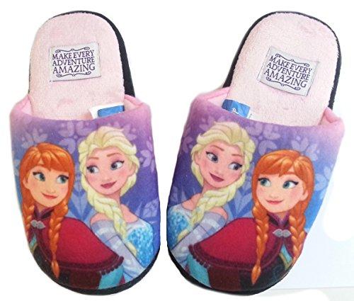 Frozen Disney Hausschuhe Pantoffeln Neu Mädchen Kindergarten Schuhe Gr. 25-32 (29/30, rosa)