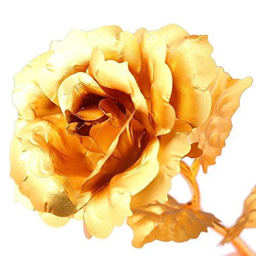 Rosa 24 K placcato oro rosa fiore con confezione
