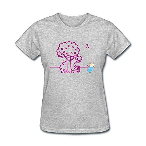 womens-elmer-fudd-art-design-short-cotton-t-shirt-large