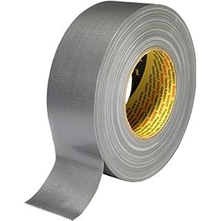 3M Premium Gewebeklebeband 389, silber, 19 mm x 50 m (1-er Pack)