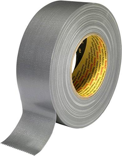 3M 7000111480 Scotch Gewebeklebeband, 389, 19 mm x 50 m, 0,26 mm, Silber