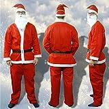 De lujo disfraz de Papá Noel 5 teilig disfraz de Papá Noel para árbol de Navidad de Papá...