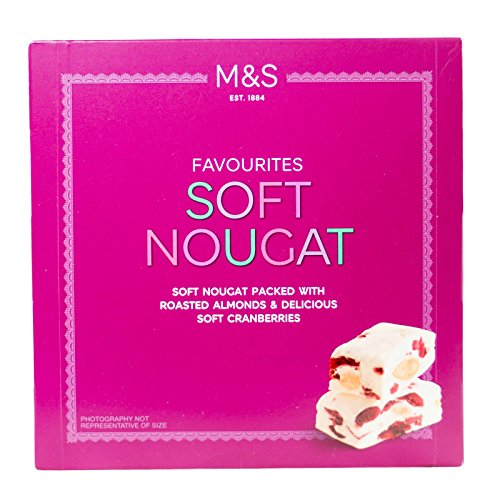 Marks & Spencer Soft Nougat Pieces Packed With Roasted Almonds & Delicious Soft Cranberries 156g