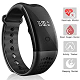 Heart Rate Watch Arvin Fitness Tracker Blood Pressure Blood Oxygen Monitor Pedometer Sports Bracelet Smart Watch Bluetooth Health Activity Tracker Wristband With Sleep Monitor Step Tracker Calorie Cou