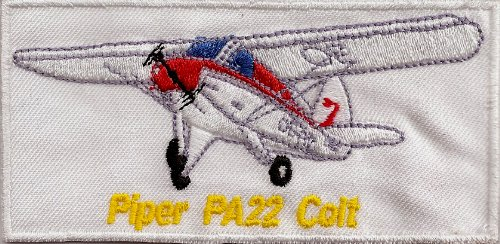Flugzeug Piper PA22 Colt Aufnäher-Patch-Sammler-selten (Patch Seltene)