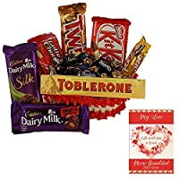 Valentines Day Chocolate Gift | Valentine's Day Gift Combo for Him, Her, Husband, Wife, Loved Ones, Girl Friend | Valentine's Day Greeting Card | Valentine Chocolate Hamper | 1604
