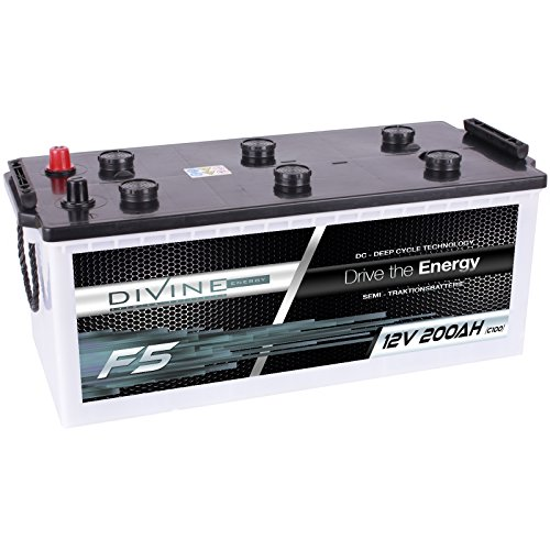 Divine 12V 200Ah Solarbatterie Mover Versorgungsbatterie Wohnmobil Boot Marine Camping Batterie Wartungsfrei