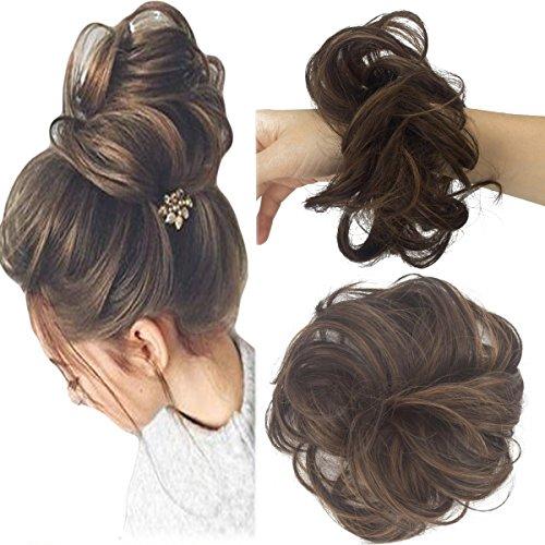 noten Haar Updo Perücke Haarband Pferdeschwanz Erweiterung Gewellt Lockig Elastisch Knoten Haarverlängerung ()