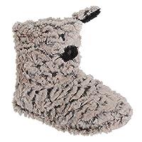 Womens/Ladies Cat Design Boot Slippers