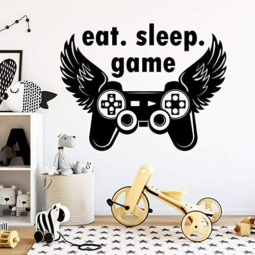 Aufkleber Gamer Wandaufkleber Joystick Aufkleber Videospiel Dekor Gamer Geschenk Teen Boy Dekor Spielzimmer Aufkleber Spiel A11-017 57X44CM