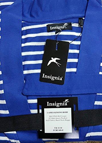 INSIGNIA Donna Vestaglia Estate striscia di cotone leggero VESTAGLIA righe blu