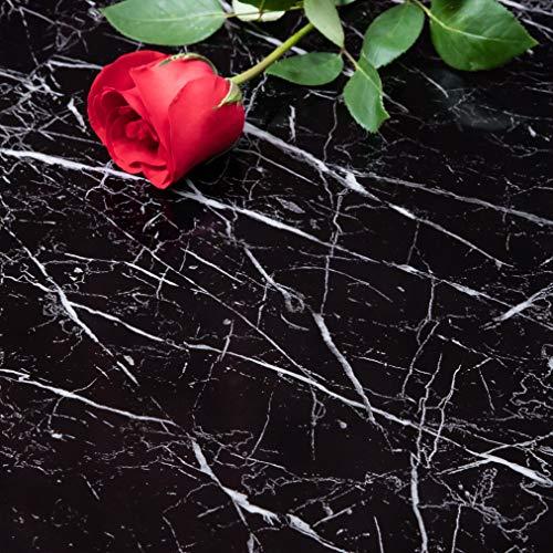 Niviy Marmor Folie Selbstklebende Klebefolie I Küchenfolie I Möbelfolie I Dekofolie für Möbel Küche Wohnzimmer Tisch Feuchtigkeitsbeständig Wasserdicht Ölbeständig 45cm x 200 cm