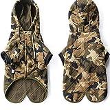 DUPFY Hundebekleidung mit Kapuze, Sportkleidung. Casual Tarnanzug für mittelgroße und große Hunde wie
