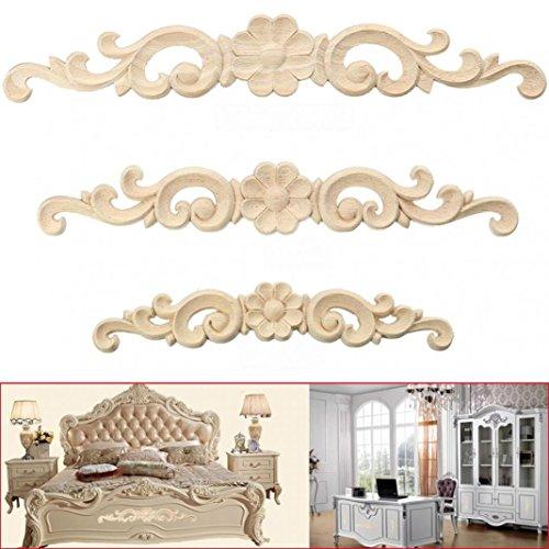 Mueble de madera tallado en esquina, para decoración de pared, marco sin...