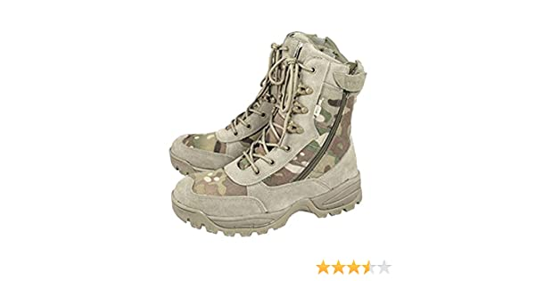 MTP Tactical Boots Side Zip MULTICAM Camouflage Cordura Airsoft Army Combat Boot