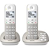 Philips XL4952S/05 Cordless Phone with Answering Machine 4.8 cm Display and White Backlight - Silver