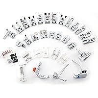 CLE DE TOUS@ Kit de 32pcs multifuncional prensatelas para maquina de coser Presser Foot Feet Kit Machines Set