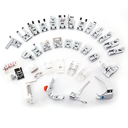 CLE DE TOUS@ Kit de 32pcs multifuncional prensatelas para maquina de coser Presser Foot Feet Kit Machines Set