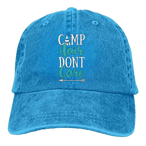 2018 Adult Fashion Cotton Denim Baseball Cap Camp Hair Don't Care-3 Classic Dad Hat Adjustable Plain Cap -