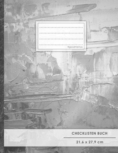 """Checklisten-Buch: DIN A4 • 70+ Seiten, Soft Cover, Register, """"Ölfarbe"""" • #GoodMemos • 18 Checkboxen + Platz für Notizen/Seite (inkl. Register mit Datum uvm.)"""