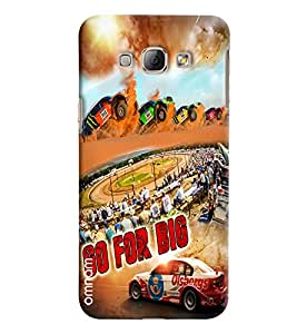 Omnam Go For Big Racing Effect Printed Designer Back Cover Case For Samsung Galaxy A8