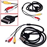 HDE Original Xbox Composite RCA Cable Adapter Audio Video Cord for Microsoft Xbox Original 1st Gen Console to TV