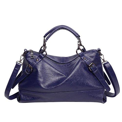 YouPue Paket Kuriertasche Damen Weiblichen Beutel Handtaschen Für Frauen Handtasche Blau
