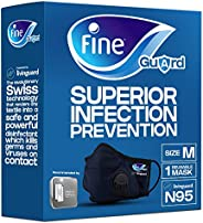 Fine Guard N95 Adult Face Mask With Livinguard Technology, Infection Prevention – Size Medium