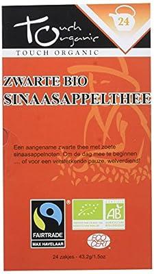 Touch Organic Thé Noir à l'Orange 24 Sachets 43.2 g - Pack de 6