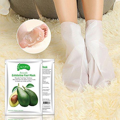 Fußmaske Fuß Peeling Maske zu Hornhaut Entfernung 1 Paar Hornhaut Socken mit Oliven Duft Fuß Hornhautentferner Peeling Socken Exfoliating Foot Maske Samtweiche und zarte Füße Innerhalb