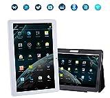 NMY Tablette Tactile Débloqué Smartphone 10.1'' IPS HD écran Phablet (Quad Core, Double Caméra, Double SIM, Bluetooth, Wi-Fi, 16 Go ROM) et Livré avec un étui de Tablette gratuity (Or)