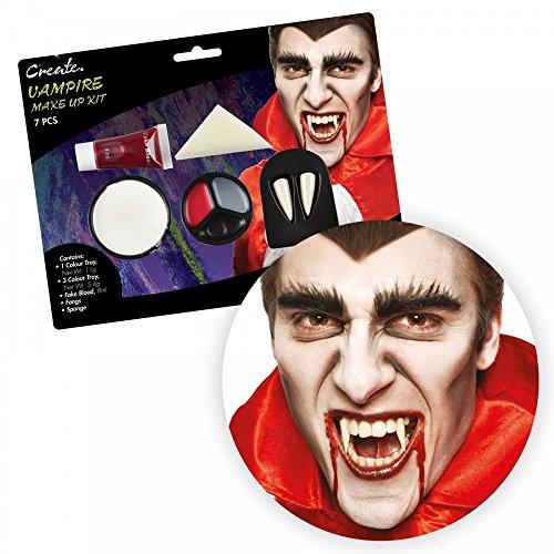Diverse Halloween Schminksets Blut Schminke Vampir-Zähne Kunstblut Make-up, (Namen Vampir Zähne)