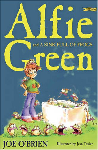 Alfie Green and a sink full of frogs