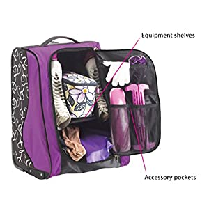 GRIT SPECIAL SKATING TOWER BAG. Trolley Grit for figure skates carry as a tower with compartments arranged as a closet