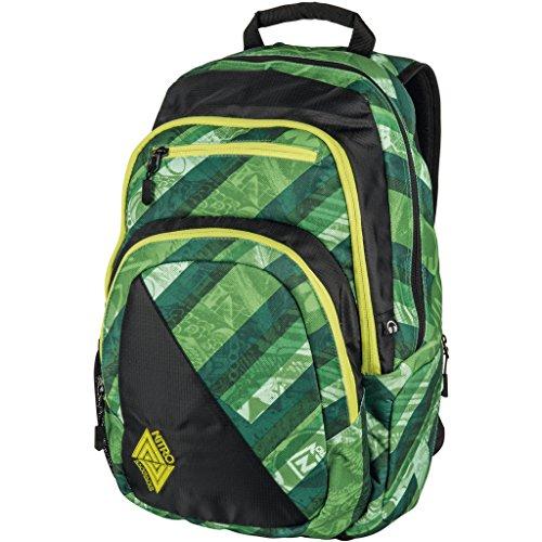 Nitro Stash Rucksack, Schulrucksack, Schoolbag, Daypack,  Wicked Green, 49 x 32 x 22 cm, 29 L,